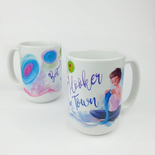 Kubek ceramiczny Best Hooker in Town picktheyarn.com
